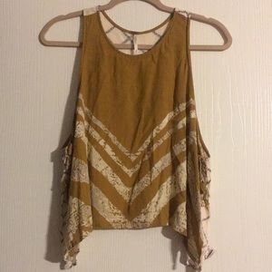 Free People Top With Side Tie Detail
